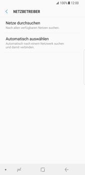 Samsung Galaxy S8 - Android Oreo - Netzwerk - Manuelle Netzwerkwahl - Schritt 7
