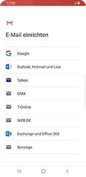 Samsung Galaxy S9 - Android Pie - E-Mail - 032a. Email wizard - Gmail - Schritt 7