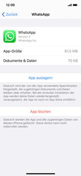 Apple iPhone XS - iOS 13 - Apps - Eine App deinstallieren - Schritt 6