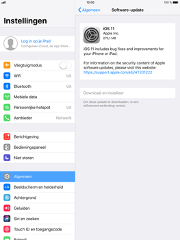 Apple iPad mini 4 iOS 11 - Toestel - Software update - Stap 6