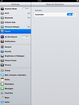 Apple iPad Retina - Network - manual network selection - Step 6