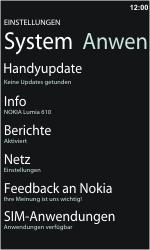 Nokia Lumia 610 - Fehlerbehebung - Handy zurücksetzen - Schritt 6