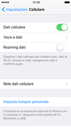 Apple iPhone 5s iOS 9 - Internet e roaming dati - Disattivazione del roaming dati - Fase 5