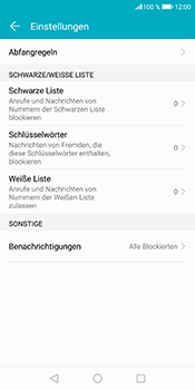 Huawei Honor 9 Lite - Anrufe - Anrufe blockieren - Schritt 6