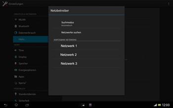 Sony Xperia Tablet Z LTE - Netzwerk - Manuelle Netzwerkwahl - Schritt 8