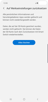 Samsung Galaxy S10 Plus - Fehlerbehebung - Handy zurücksetzen - Schritt 10