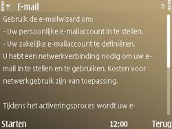 Nokia E72 - e-mail - handmatig instellen - stap 5