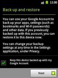 Samsung Galaxy Pocket - Applications - Setting up the application store - Step 14