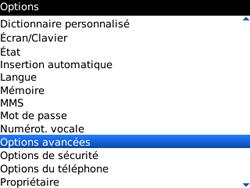 BlackBerry 9300 Curve 3G - Paramètres - Reçus par SMS - Étape 4