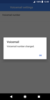 Sony Xperia XZ2 - Voicemail - Manual configuration - Step 11