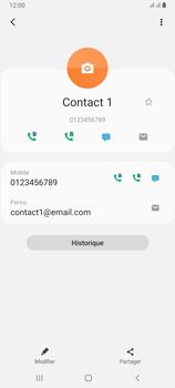 Samsung Galaxy A80 - Contact, Appels, SMS/MMS - Ajouter un contact - Étape 12