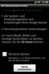 HTC Wildfire S - Fehlerbehebung - Handy zurücksetzen - 2 / 2