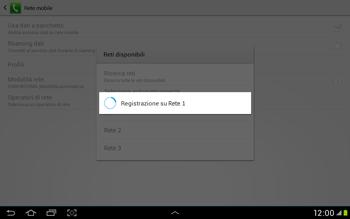Samsung Galaxy Tab 2 10.1 - Rete - Selezione manuale della rete - Fase 9