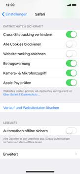 Apple iPhone X - iOS 11 - Neue Datenschutz- und Sicherheitsfunktionen für Safari aktivieren - 5 / 6