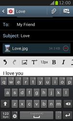 Samsung S7710 Galaxy Xcover 2 - E-mail - Sending emails - Step 15