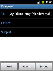 Samsung S5300 Galaxy Pocket - E-mail - Sending emails - Step 8