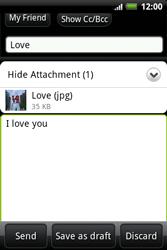 HTC A510e Wildfire S - E-mail - Sending emails - Step 12