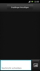 Sony Ericsson Xperia Ray mit OS 4 ICS - MMS - Erstellen und senden - 2 / 2