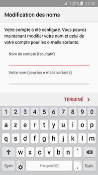 Samsung Galaxy A8 - E-mail - configuration manuelle - Étape 16