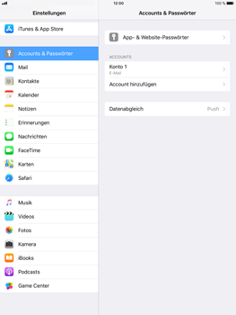 Apple iPad Air 2 - E-Mail - Konto einrichten - 0 / 0