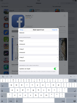 Apple iPad Pro 12.9 inch (Model A1671) - Applicaties - Account aanmaken - Stap 16
