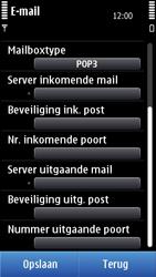 Nokia C7-00 - e-mail - handmatig instellen - stap 11