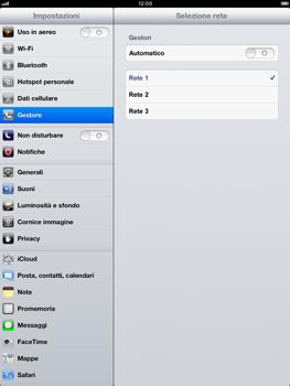 Apple iPad mini - Rete - Selezione manuale della rete - Fase 7