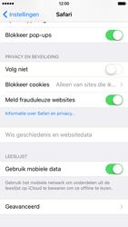 Apple iPhone 6 met iOS 9 (Model A1586) - Privacy - Cookies en geschiedenis wissen - Stap 6