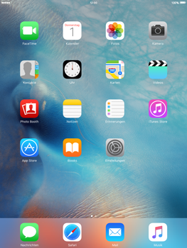 Apple iPad Air 2 mit iOS 9 - Internet - Manuelle Konfiguration - Schritt 1