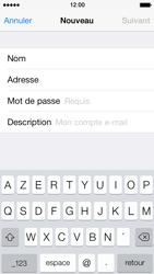 Apple iPhone 5s - E-mail - Configuration manuelle - Étape 9