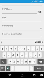 Sony Xperia Z5 Compact - E-Mail - Manuelle Konfiguration - Schritt 12