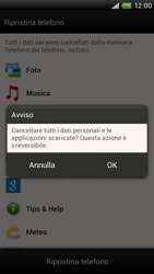 HTC One X - Dispositivo - Ripristino delle impostazioni originali - Fase 9