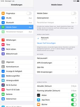 Apple iPad Pro 9.7 - iPadOS 13 - Internet und Datenroaming - Prüfen, ob Datenkonnektivität aktiviert ist - Schritt 4