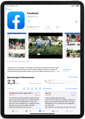 Apple iPad 9.7 (2017) - iPadOS 13 - Apps - Einrichten des App Stores - Schritt 27