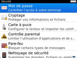 BlackBerry 9320 - Sécuriser votre mobile - Activer le code de verrouillage - Étape 5