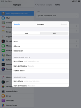 Apple iPad Air 2 - ipados 13 - E-mail - configuration manuelle - Étape 10