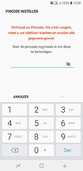 Samsung Galaxy A6 - Beveiliging - stel in of wijzig pincode voor je toestel - Stap 9