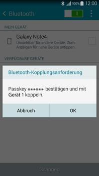 Samsung Galaxy Note 4 - Bluetooth - Verbinden von Geräten - Schritt 7