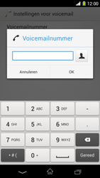 Sony D5503 Xperia Z1 Compact - voicemail - handmatig instellen - stap 8