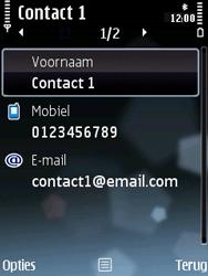 Nokia E75 - contacten, foto