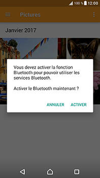 Sony Xperia XA1 Ultra - Photos, vidéos, musique - Envoyer une photo via Bluetooth - Étape 13