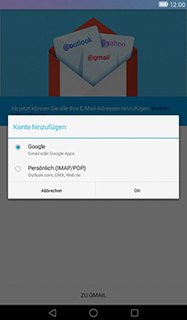 Huawei MediaPad T1 (7.0) - E-Mail - Konto einrichten (gmail) - Schritt 7