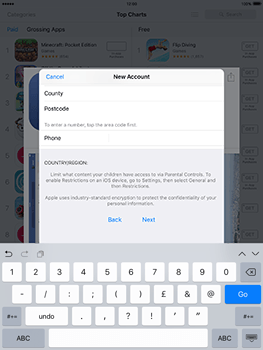 Apple iPad Air 2 iOS 10 - Applications - Create an account - Step 21
