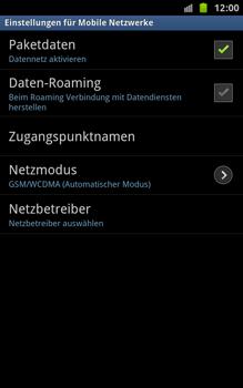 Samsung Galaxy Note - Netzwerk - Netzwerkeinstellungen ändern - 6 / 7