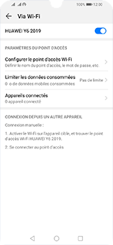 Huawei Y6 (2019) - Internet - comment configurer un point d'accès mobile - Étape 13