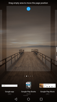 Huawei Mate 9 - Getting started - Installing widgets and applications on your start screen - Step 5