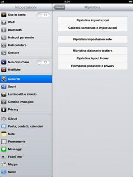 Apple iPad Retina - Dispositivo - Ripristino delle impostazioni originali - Fase 6