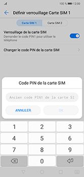 Huawei P20 lite - Sécuriser votre mobile - Personnaliser le code PIN de votre carte SIM - Étape 7