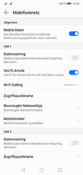 Huawei P20 Lite - Netzwerk - Netzwerkeinstellungen ändern - Schritt 5