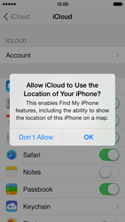 Apple iPhone 5s - Applications - Configuring the Apple iCloud Service - Step 9